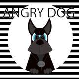 Perro negro travieso ilustración del vector
