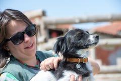 Perro querido y su amigo Fotografía de archivo libre de regalías