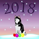 Perro - símbolo 2018 libre illustration
