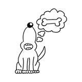 Perro (vector) Foto de archivo libre de regalías