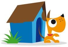 Perro y casa de perro Imagen de archivo libre de regalías
