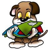 Perro y escuela de perrito stock de ilustración
