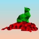 Perro y gato abstractos Fotografía de archivo libre de regalías