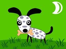 Perro y hueso Stock de ilustración