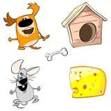Perro y ratón divertidos Foto de archivo libre de regalías