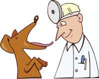 Perro y veterinario stock de ilustración