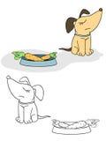 Perro y zanahoria Fotografía de archivo libre de regalías