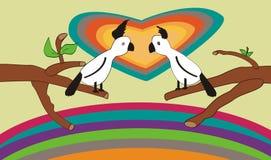 Perroquet de deux amoureux Photos stock