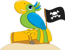 Perroquet de pirate Images libres de droits