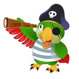 Perroquet de pirate Image libre de droits