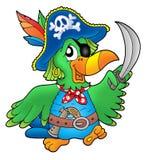Perroquet de pirate Photographie stock libre de droits