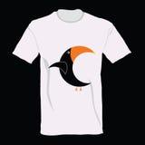 Perroquet sur la bande dessinée de T-shirt Photos stock