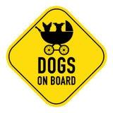 Perros a bordo muestra fotos de archivo