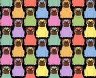 Perros coloreados divertidos Fondo inconsútil Fotografía de archivo