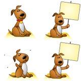 Perros con las pulgas y las muestras Foto de archivo libre de regalías