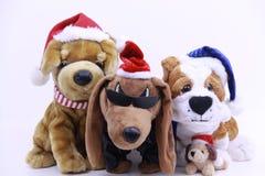 Perros de juguete de la Navidad Foto de archivo libre de regalías