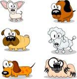 Perros de la historieta Imágenes de archivo libres de regalías