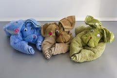 Perros de la toalla Fotos de archivo libres de regalías