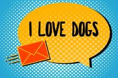 Perros del amor del texto I de la escritura El significado del concepto tiene buenas sensaciones hacia los colmillos para tener g stock de ilustración