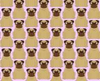 Perros divertidos Fondo inconsútil Foto de archivo libre de regalías