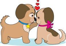 Perros en amor stock de ilustración