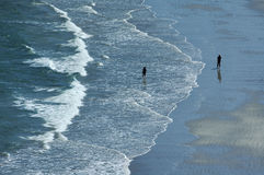 Perros-Guirec (Бретань, Франция): пляж Стоковое фото RF