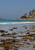 Perros Guirec beach in Brittany Royalty Free Stock Photography
