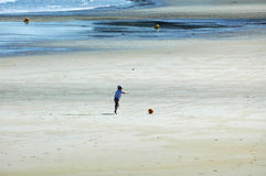 Perros-Guirec (Brittany, France): beach Stock Photos