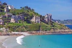 Perros-Guirec, la Bretagne, la Bretagne, France Photographie stock libre de droits