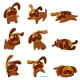Perros lindos de la historieta Imágenes de archivo libres de regalías