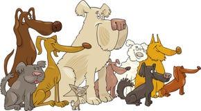 Perros que se sientan Imágenes de archivo libres de regalías