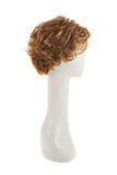 Perruque de cheveux au-dessus de la tête de mannequin Image libre de droits