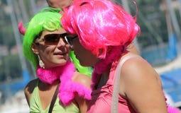 Perruques chez le Gaypride 2011, Genève, Suisse Photographie stock