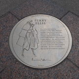 Perry Ellis Plaque Stock Photo