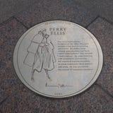 Perry Ellis Plaque Stock Photo