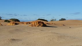 Perry Sandhills wentworth NSW Australia. Sand formations on the top of the dunes Stock Photos