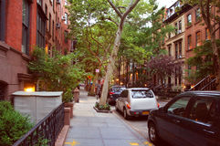 Perry street of Greenwich village district Royalty Free Stock Photos