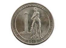 Perrys Victory Commemorative Quarter Fotos de archivo libres de regalías