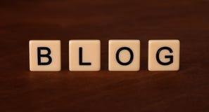 Persönliche Blog-Schlagzeile Social Networking-Konzept Lizenzfreie Stockbilder