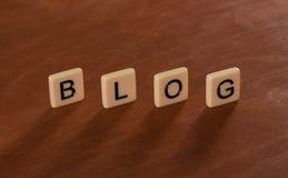 Persönliche Blog-Schlagzeile Social Networking-Konzept Stockfoto