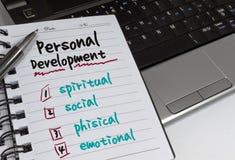 Persönliche Entwicklung Stockbild