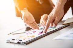 Persönliche Entwicklung, Anleitung und Ausbildungskurs für Geschäftsteamwork stockbild
