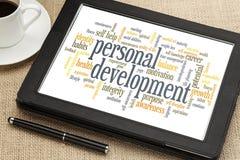 Persönliche Entwicklungswortwolke Lizenzfreies Stockbild