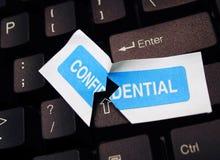 Persönliche Identitäts-Diebstahl online Stockbild