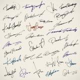 Persönliche Unterzeichnung Stockbilder