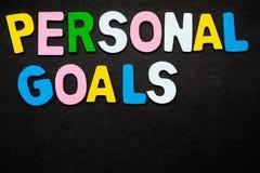 Persönliche Ziele Lizenzfreie Stockbilder