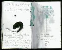 Persönlichen Art Journal Artists verrückte Klugheits-handgemachte Collage Art Journal stockbild