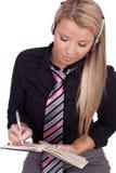 Persönlicher Assistent, der eine Zusammenkunft festlegt Lizenzfreie Stockfotografie