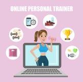 Persönlicher on-line-Trainer lizenzfreie abbildung