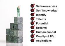 Persönliches Entwicklungsfähigkeit Konzept stockbilder